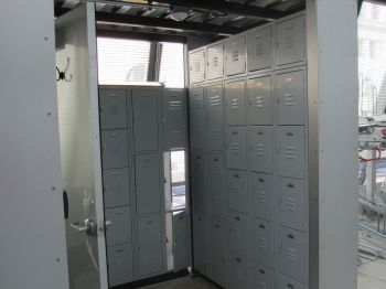 Bike station lockers