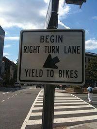 Yield to bikes