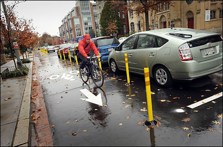 15th street bike lane rain