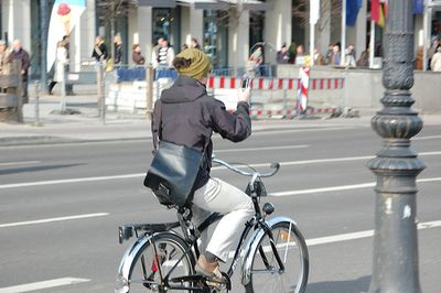 Texting while biking