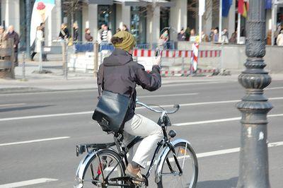 Texting while biking