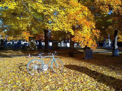 A bike in Arlington MA cemetery