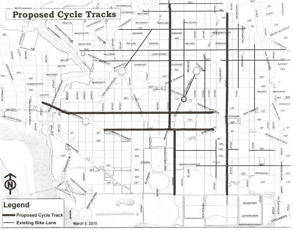 Cycletrack map