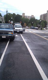 Bike lane loading