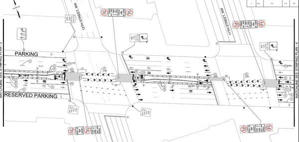 Penn Ave Bike lane redesign