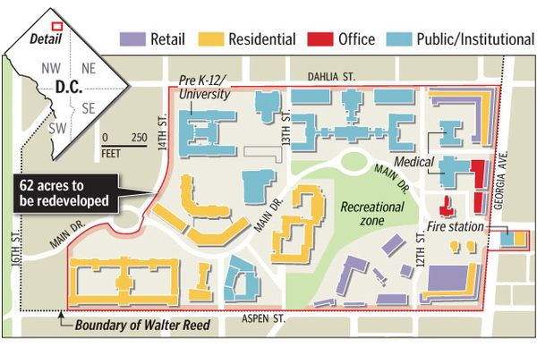 Walter Reed Medical Center Map