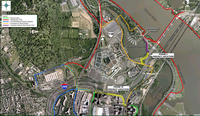 Pentagon area trail map