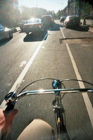 Bike in bike lane