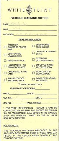 Bicycle Parking Ticket