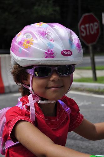 Cool helmet girl