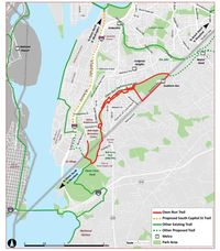 South DC trail map