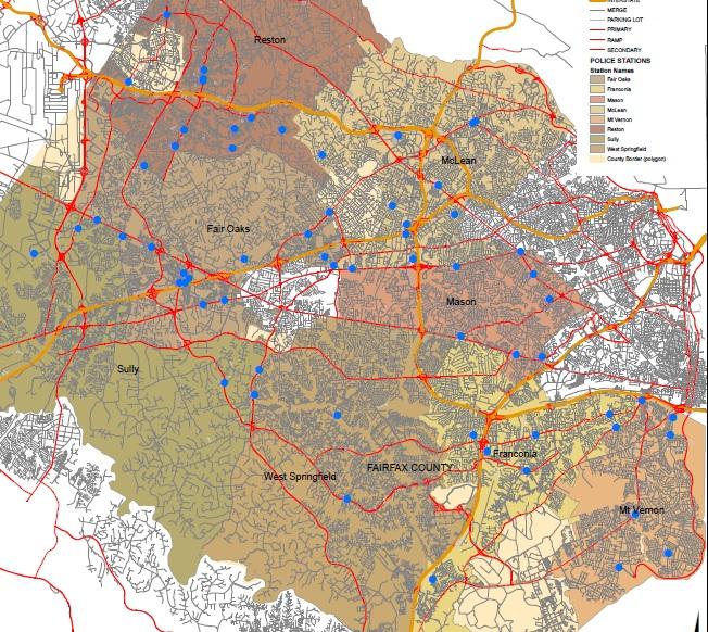 Fairfax crash map 2010