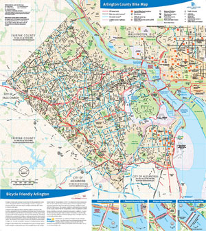 Thewashcycle New Arlington County Bike Map