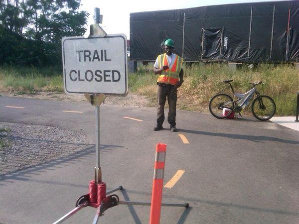 MBT trail closed