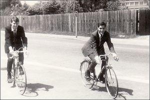 Romney on bike