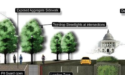 Cyclist in gutter