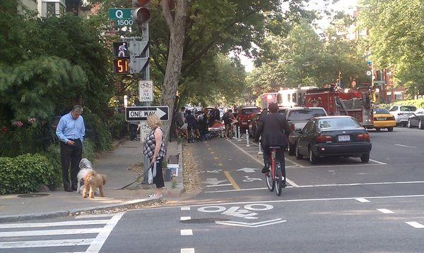 15st bikelane crash