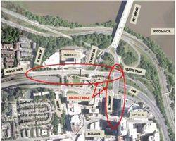 Custis trail improvement area