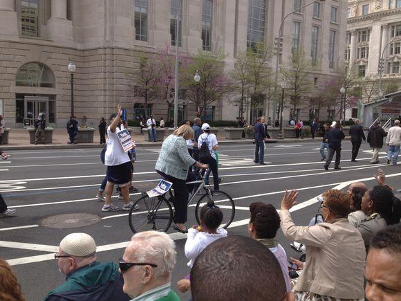 Yvette Alexander on a bike