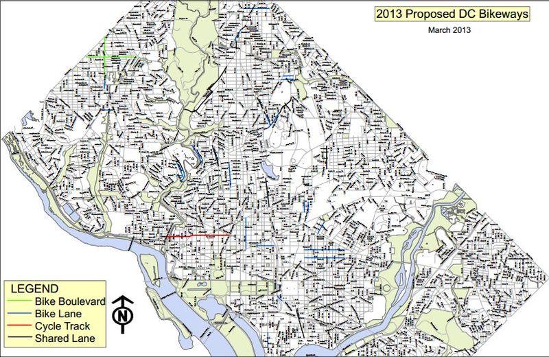 DDOT Bike map 2013