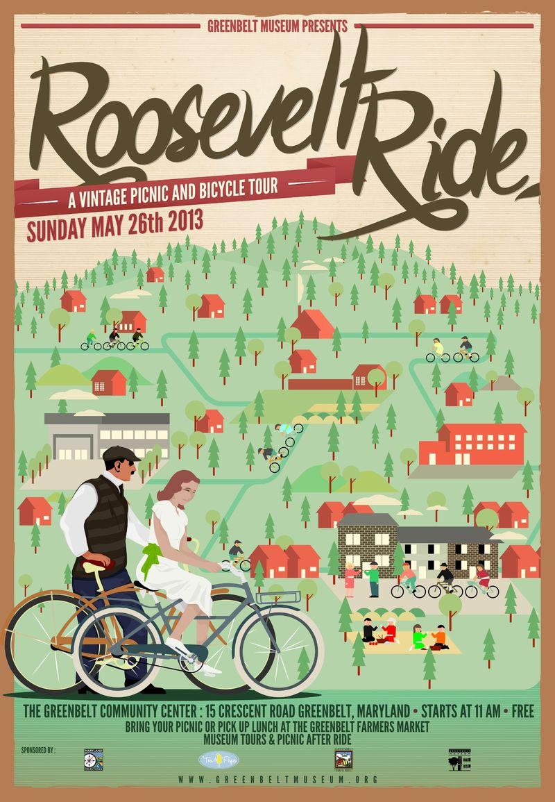 Roosevelt Ride Poster Greenbelt Museum