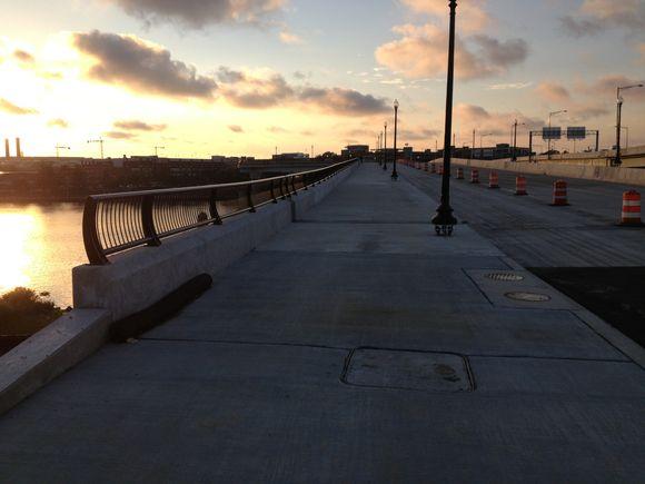 11th St. bridge side path now open