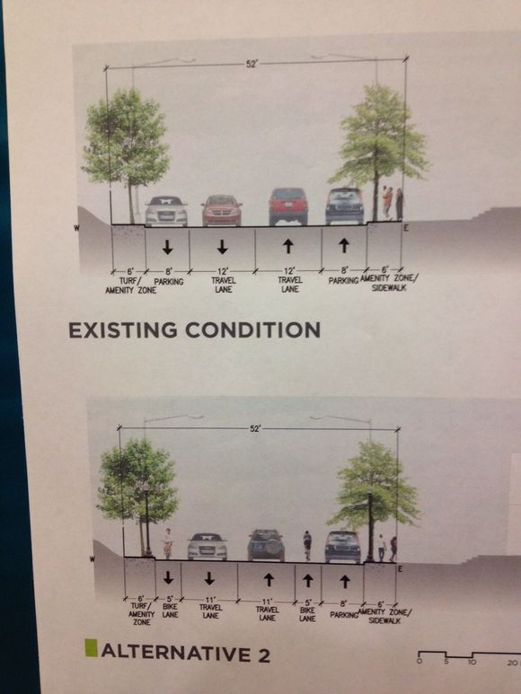 Alternatives 1 &  2 for West Virginia Ave north of Florida Ave