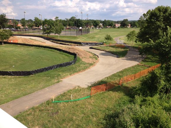 Work underway on the Kenilworth section of the Anacostia Riverwalk Trail