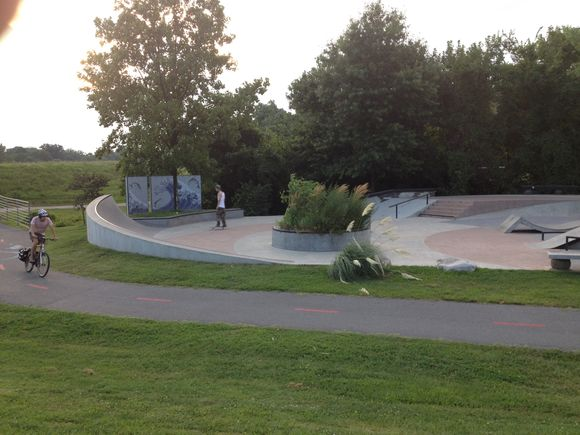 Skate park along NW branch trail