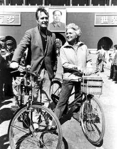 George-and-barbara-bush-bike