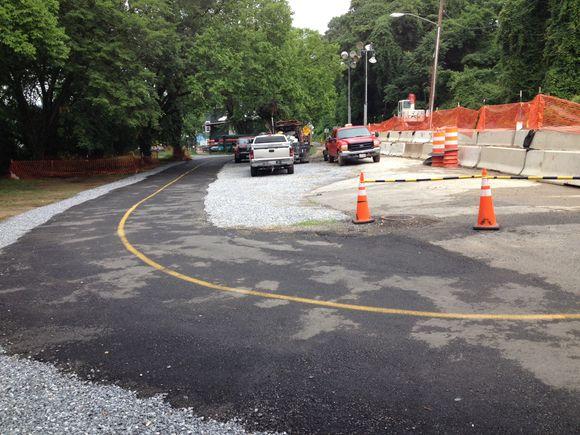 Construction detour on the CCT