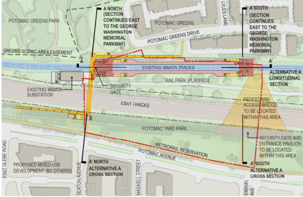 Build B Would Shift The Station North And With It Bike Ped Bridge Also Include Two Bridges A Outside Of Metro Gates
