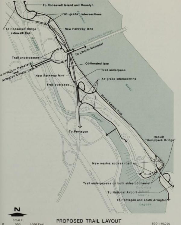 1990 Columbia Island trail map