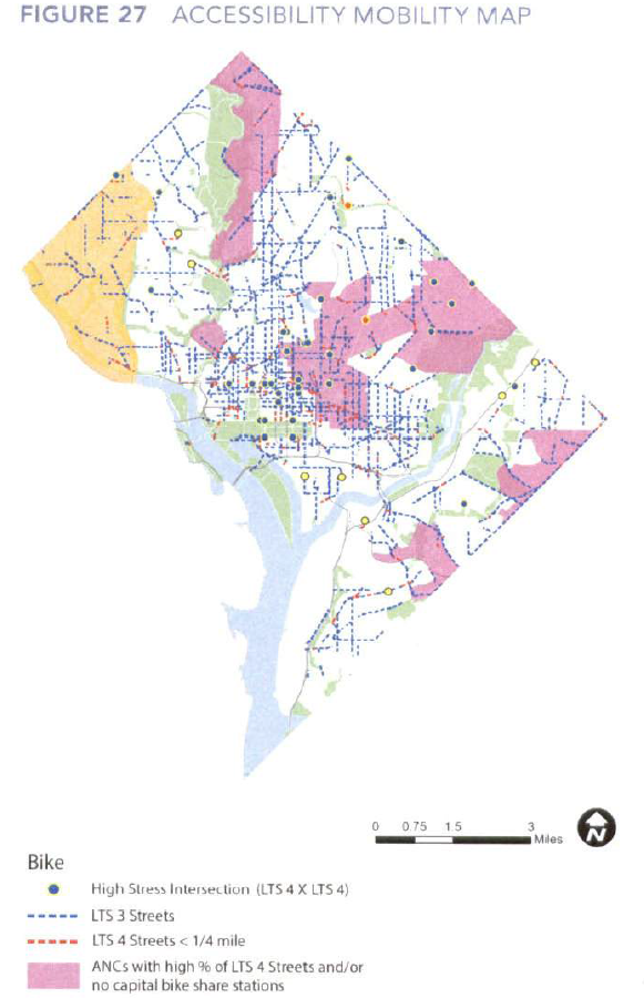 Dc Bike Share Map TheWashCycle: DDOT's Congestion Management Study identifies areas