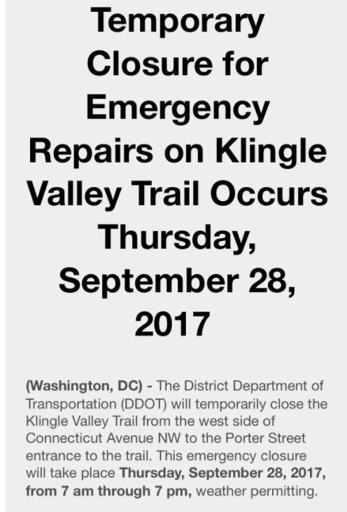 Klingle emergency