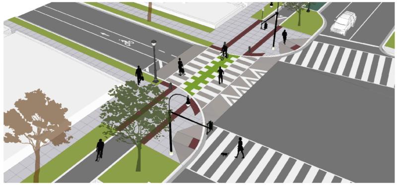Alternative Combined Crosswalk