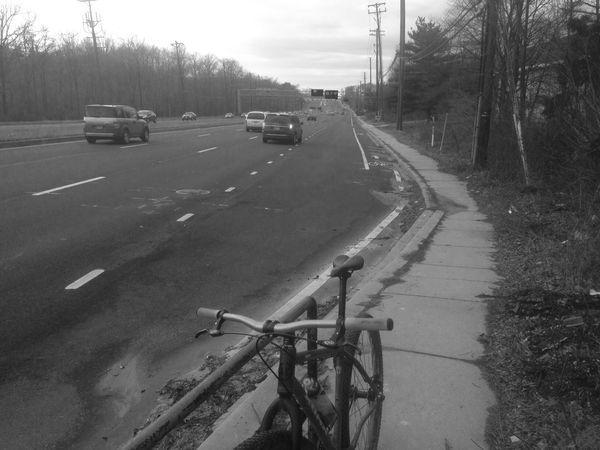 Stupidest bike lane in Maryland Greenbelt Road
