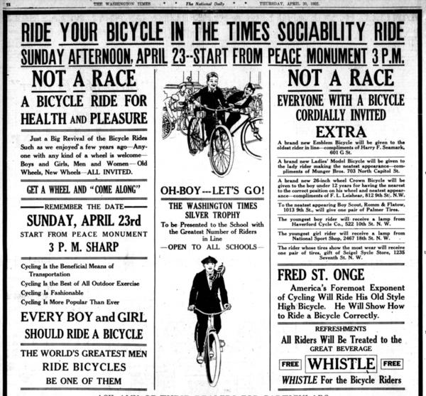 1922 Times Sociability Ride