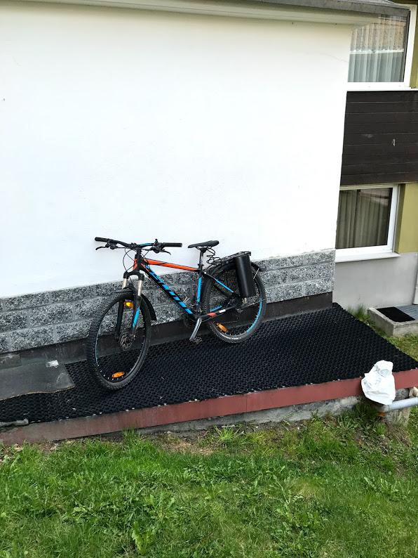 Bike for skiis
