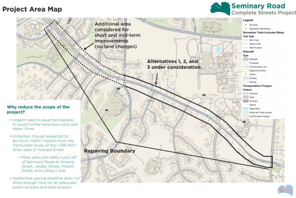 TheWashCycle: Three options for Seminary Road complete